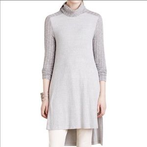 Anthropologie Long Grey Tunic Sweater